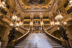 O Palais Garnier, Opera de Paris, interiores e detalhes Imagens de Stock Royalty Free