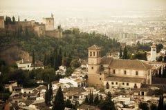 O palácio de Alhambra Fotos de Stock Royalty Free