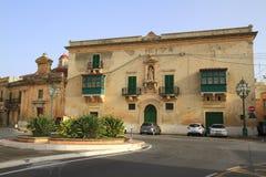 O palácio de Gregorio Bonnici, Malta Fotos de Stock Royalty Free