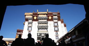 O palácio de Potala Foto de Stock Royalty Free