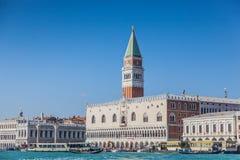 O palácio do doge com Campanile de St Mark, Veneza, Vêneto, Itlay Imagem de Stock Royalty Free