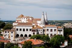 O palácio do nacional de Sintra Fotos de Stock