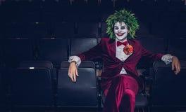 O palhaço de Batman em um evento cômico do engodo foto de stock royalty free