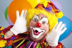 O palhaço faz a face engraçada Imagens de Stock Royalty Free