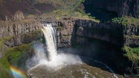 O Palouse cai, princípio da tarde, com arco-íris dobro Foto de Stock Royalty Free