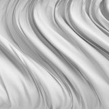 O pano branco Rippled da tela de seda acena o backgrou abstrato da elegância Fotografia de Stock Royalty Free