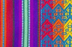 O pano de tabela colorido do algodão Textures #2 foto de stock
