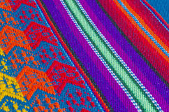 O pano de tabela colorido do algodão Textures #6 Fotos de Stock Royalty Free