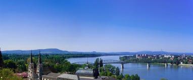 O panorama da curva de Danúbio Fotos de Stock