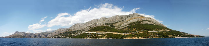 O panorama da ilha croata Imagem de Stock