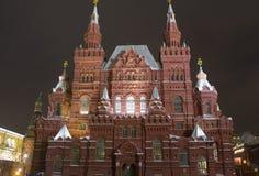 O panorama da noite das paredes do Kremlin e Fotografia de Stock Royalty Free