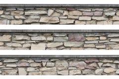 O panorama de pedra da cerca panorâmico stonewall isolado Foto de Stock Royalty Free