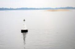 O panorama do Rio Volga no alvorecer Foto de Stock Royalty Free