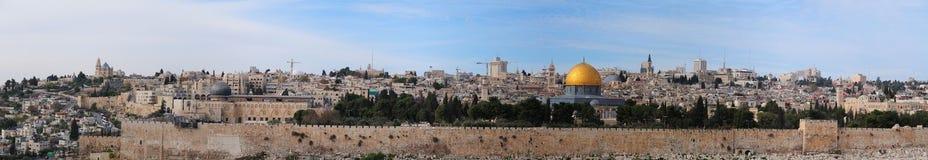 O panorama Jerusalem Fotos de Stock Royalty Free