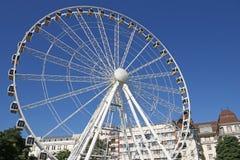 O panorama roda dentro Budapest imagens de stock
