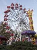 O panorama roda dentro o parque de Herastrau, Bucareste Fotografia de Stock