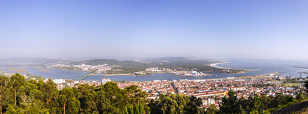 O panorama sobre Viana faz Castelo Fotografia de Stock