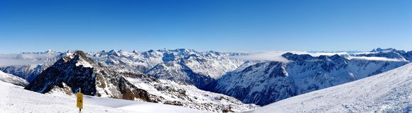 O panorama2 alpino Imagem de Stock Royalty Free
