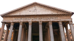 O panteão em Roma - a igreja Católica a mais velha na cidade fotografia de stock