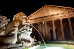 O panteão em Roma, Italy. Fotos de Stock Royalty Free