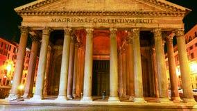 O panteão em Roma - marco famoso no distrito histórico imagem de stock