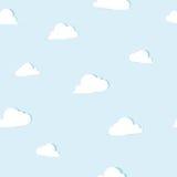 O papel abstrato nubla-se o teste padrão sem emenda ilustração royalty free