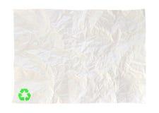 O papel amarrotado de recicl isolado Imagem de Stock