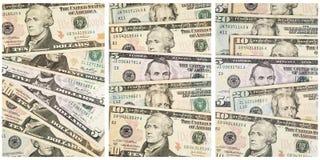 O papel americano fatura a colagem do fundo financeiro Imagens de Stock Royalty Free