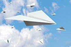 O papel aplana o vôo Imagem de Stock Royalty Free