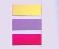 O papel colorido etiqueta o fundo Fotografia de Stock