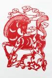 Corte de papel vermelho de China Imagens de Stock