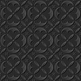 O papel 3D escuro sem emenda cortou a geometria redonda elegante da cruz da curva do fundo 387 da arte ilustração stock