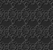O papel 3D escuro sem emenda cortou o caleidoscópio do vintage do fundo 376 da arte Imagem de Stock