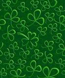 O papel 3D verde sem emenda cortou o trevo para o dia do ` s de St Patrick, papel do teste padrão de envolvimento do trevo, folha Fotos de Stock