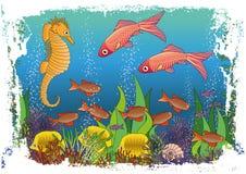 O papel de parede marítimo das crianças ilustração royalty free