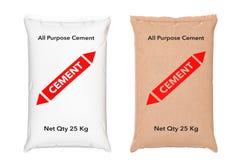 O papel despede sacos do cimento rendição 3d ilustração stock