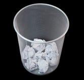 O papel do lixo do teste padrão da rede da malha do escaninho amarrota-se Foto de Stock