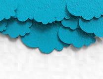 O papel nubla-se o projeto poligonal Imagens de Stock