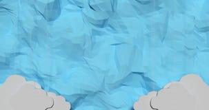 O papel nubla-se o quadro Imagens de Stock