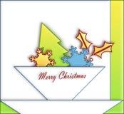 O papel ornaments o Natal Imagem de Stock Royalty Free