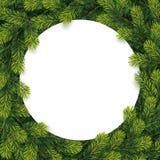 O papel para a lista do Natal em um pinho ramifica Imagem de Stock Royalty Free