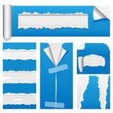 O papel rasgado ajustou 2 Imagem de Stock