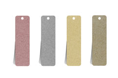 O papel recicl etiqueta para faz a vara da nota Imagem de Stock