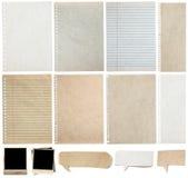 O papel textures o fundo, isolado no branco Imagem de Stock Royalty Free