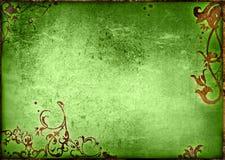 O papel velho do estilo floral textures o frame ilustração stock