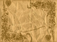 O papel velho do estilo floral textures o fundo imagem de stock