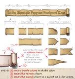 O papiro etiqueta horizontal - faça-o você mesmo jogo Fotos de Stock Royalty Free