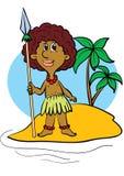 O Papuan Ilustração Stock
