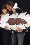 O par aborígene guarda a cultura salvar vidas Imagens de Stock Royalty Free