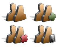 O par mostra em silhueta ícones Fotografia de Stock